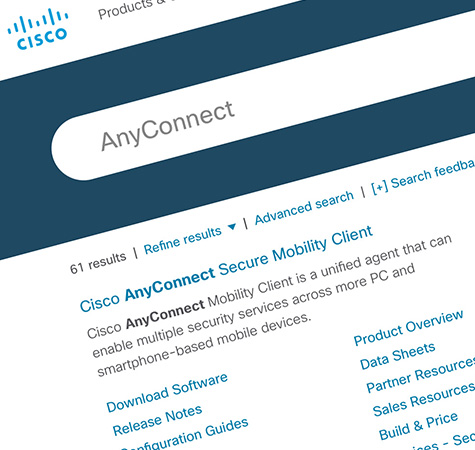 Cisco.com - Search Page